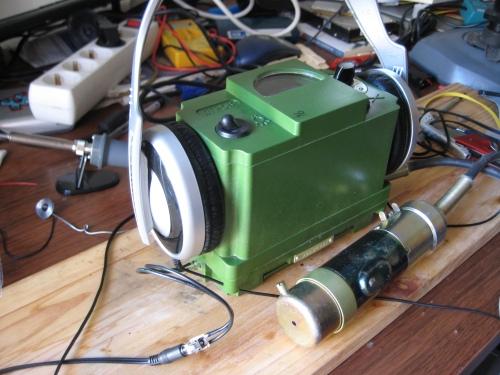 DP-5V con auriculares