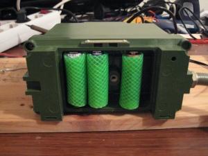 Colocando las baterías