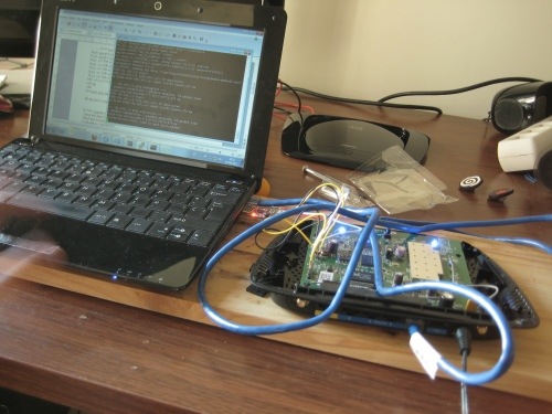 WRT160NL y Netbook conectados