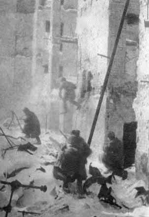 Lucha en las calles de Stalingrado