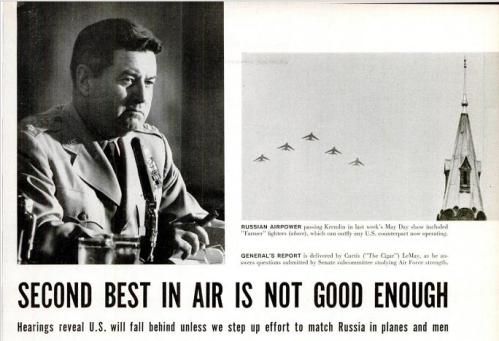 El bomber gap en un artículo de la revista Life de 1956